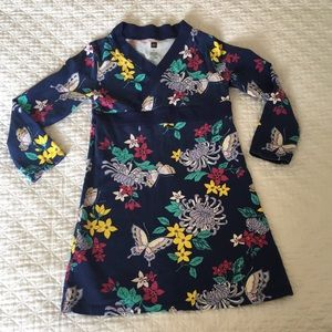 Tea collection navy floral v neck dress size 6